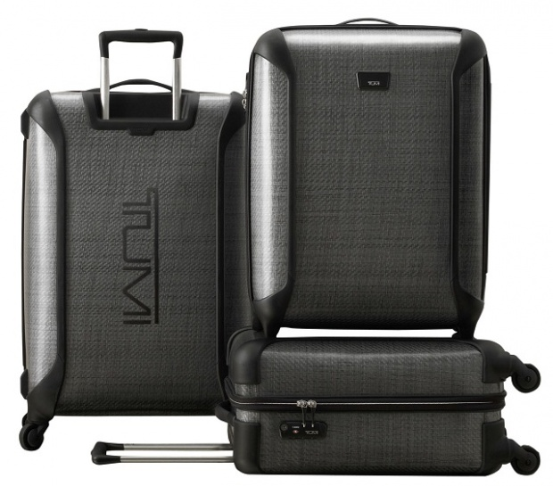 The Strongest Lightweight Luggage in the World. By Tumi. -